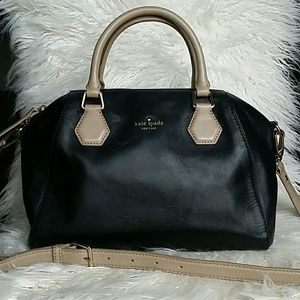Kate Spade black and tan leather satchel